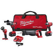 MILWAUKEE 2796-24 FUEL 18V Cordless Lithium-Ion 4-Tool Combo Kit