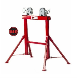 B&B 4 LEG STAINLESS WHEEL PIPE STAND