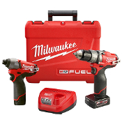 "MILWAUKEE 2597-22 M12 1/2"" HMR DR/IMPACT DRIVER KIT"