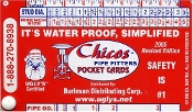 CHICO PIPE FITTERS CARDS