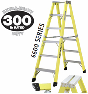 16' FG DOUBLE SIDED STEP LADDER