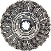 "WEILER 08179 WIRE WHEEL 10""TWISTED WIRE .014"