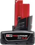MILWAUKEE 48-11-2440 M12 RED LITHIUM 4.0AH CP BATTERY