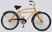 "WORKSMAN NEWSBOY BIKE 26"" YELLOW FRAME"