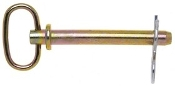 "Campbell T3899744 1"" x 4-1/2"" Hitch Pin w/Clip, Zinc Coated"