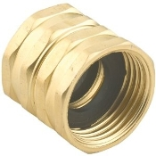 Double Female Swivel Brass Connector, 3/4-Inch by 3/4-Inch
