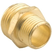 "Gilmour 7MH5MP 3/4"" / 1/2"" Double Male Brass Connector."