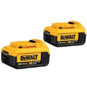DEWALT DCB204-2 20V  LI-ION  4.0 AH BATTERY 2PK