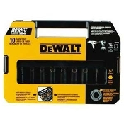 "DEWALT DW22838 3/8"" 10PC I.R. SOCKET SET"