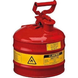 JUSTRITE 10501 2 Gallon/7.5L Safety Can, Red