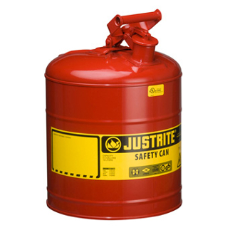 JUSTRITE 10801 5 Gallon/19L Safety Can, Red