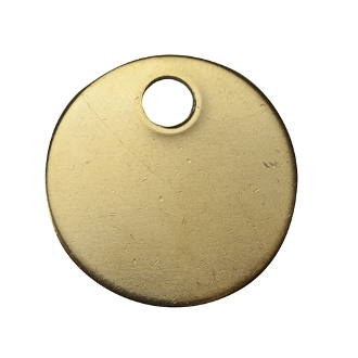 "C.H. Hanson CHH41842 BRASS TAGS 1-1/4"" ROUND"