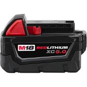 MILWAUKEE 48-11-1850 M18 REDLITHIUM 5.0AH BATTERY PACK