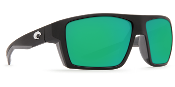 COSTA BLOKE BLACK & GRAY W/ GREEN LENS BLK124OGMGL