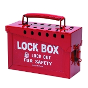 BRADY RED LOCK BOX