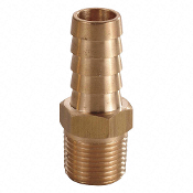 "Brass Hose Barb with Straight Fitting Style, 1/4"" 6AFH6"