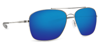 COSTA CANAVERAL PALLADIUM FRAME W/ BLUE LENS