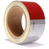 D.O.T. REFLECTIVE TAPE RED/WHITE 2 X 30