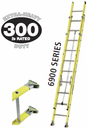 40'FIBERGLASS EXTENSION LADDER
