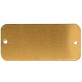 "C.H. Hanson 41317 - RECTANGLE, BRASS TAG 1-1/2""X3"""